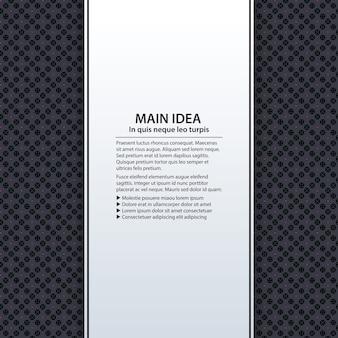 Tekstachtergrond met kleurrijk patroon. handig voor presentaties, reclame en webdesign.