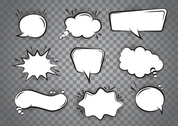 Tekstballon cartoon set