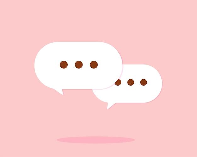 Tekstballon chat symbool kunst illustratie