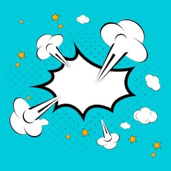 Tekstballon in de stijl vectorillustratie van de pop-art.