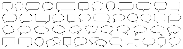 Tekstballon ingesteld. praat bubbel. cloud tekstballonnen collectie. vector