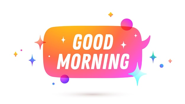 Tekstballon met good morning-tekst