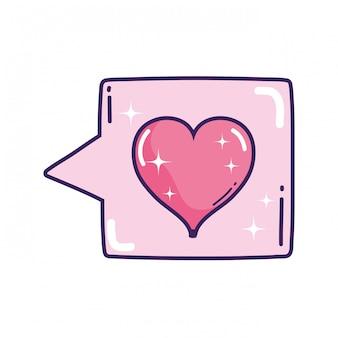 Tekstballon met hartliefde