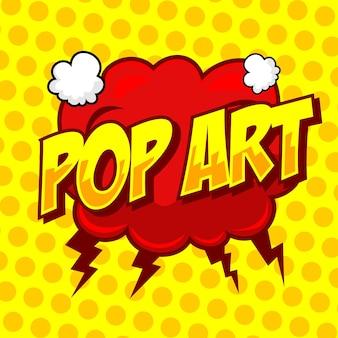 Tekstballon met pop-arttekst in komische stijl