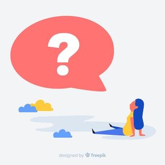 Tekstballon met vraagteken