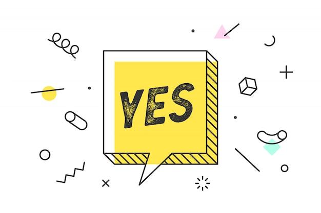 Tekstballon, poster en sticker concept