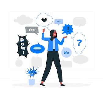 Tekstballonnen concept illustratie