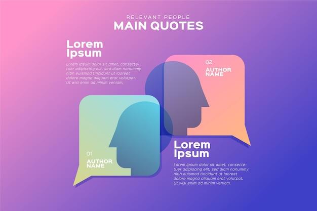 Tekstballonnen infographics sjabloon