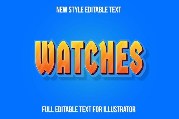 Teksteffect 3d horloges kleur oranje en donkerrood verloop teksteffect 3d horloges kleur oranje en donkerrood verloop