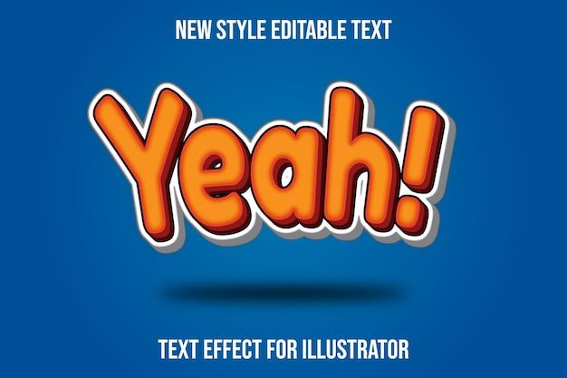 Teksteffect 3d ja! kleur oranje en wit verloop
