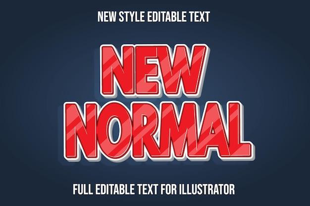 Teksteffect 3d nieuwe normale kleur rood en wit verloop