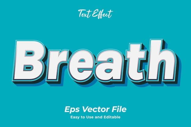 Teksteffect adem bewerkbaar en gebruiksvriendelijk premium vector
