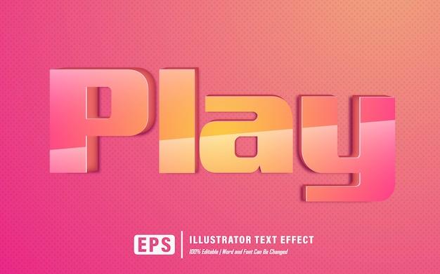 Teksteffect afspelen - bewerkbaar