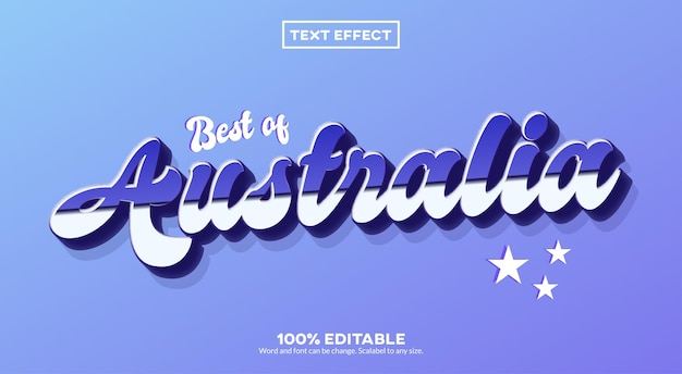 Teksteffect australië