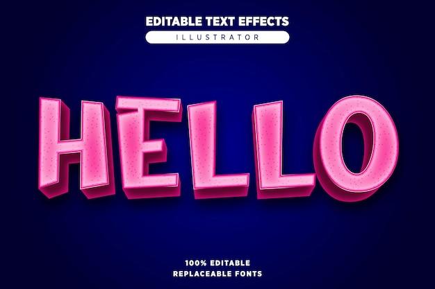 Teksteffect bewerkbaar