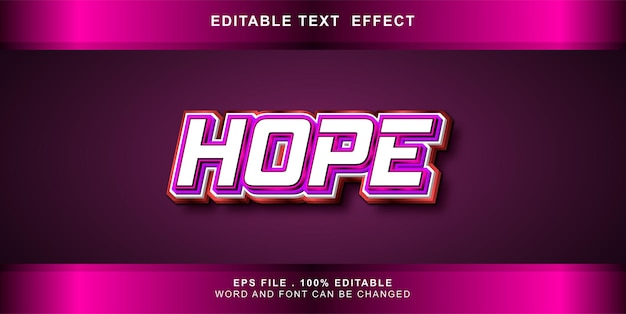 Teksteffect bewerkbare hoop