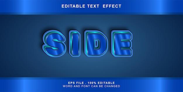 Teksteffect bewerkbare kant