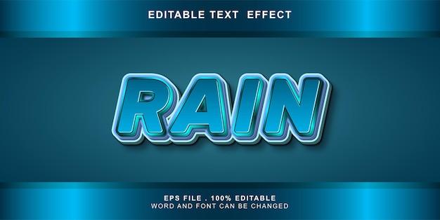 Teksteffect bewerkbare regen