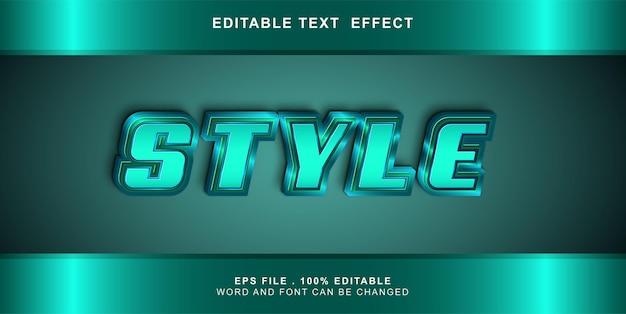 Teksteffect bewerkbare stijl