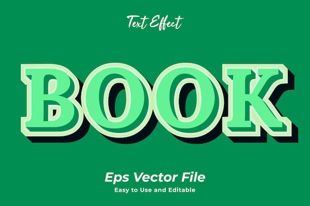 Teksteffect boek gebruiksvriendelijk en bewerkbaar premium vector