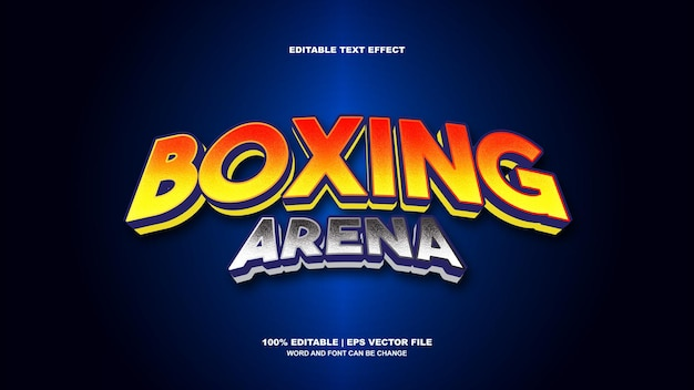 Teksteffect boksarena