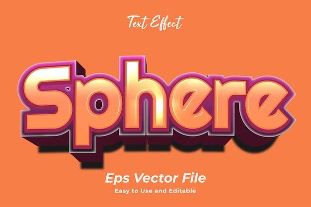 Teksteffect bol eenvoudig te gebruiken en te bewerken van hoge kwaliteit vector