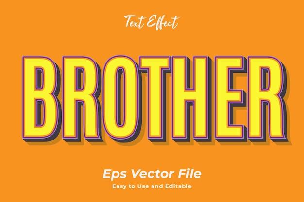 Teksteffect brother bewerkbaar en gebruiksvriendelijk premium vector