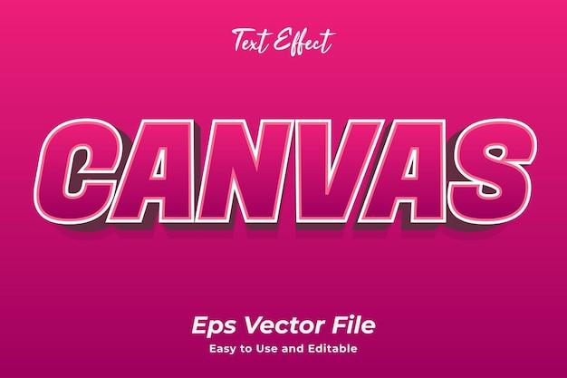 Teksteffect canvas bewerkbaar en gebruiksvriendelijk premium vector