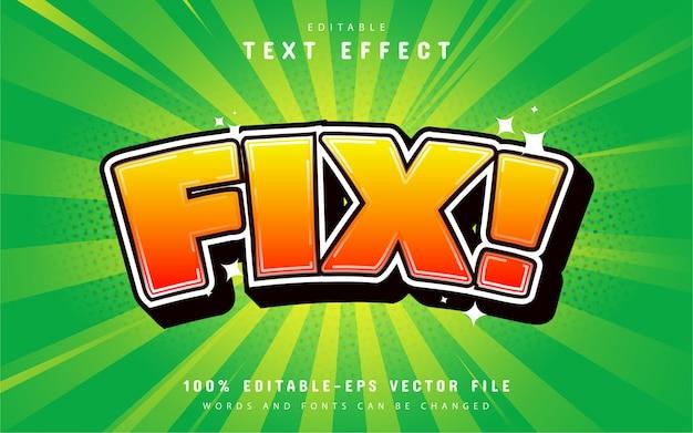 Teksteffect cartoonstijl repareren