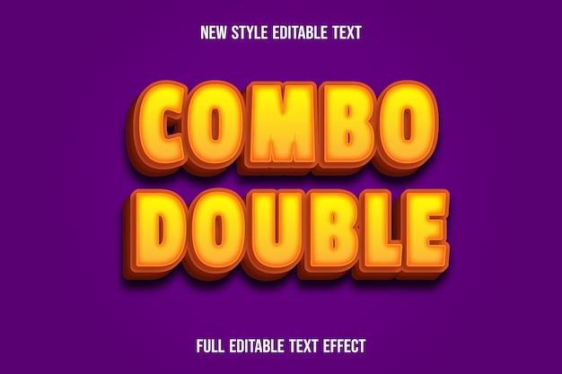 Teksteffect combo dubbele kleur geel en oranje verloop