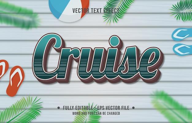 Teksteffect cruise-gradiëntstijl met thema-achtergrond van het zomerseizoen