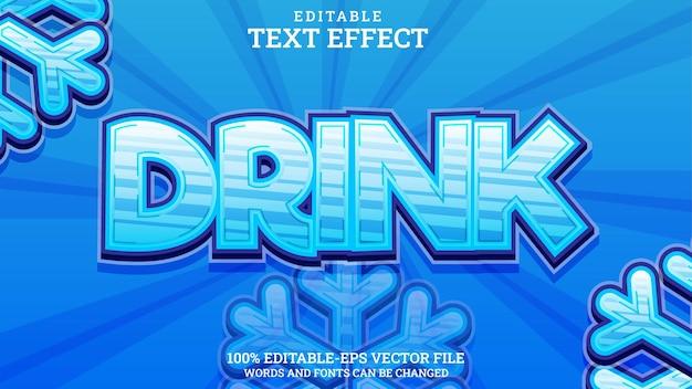 Teksteffect drankje bewerkbaar