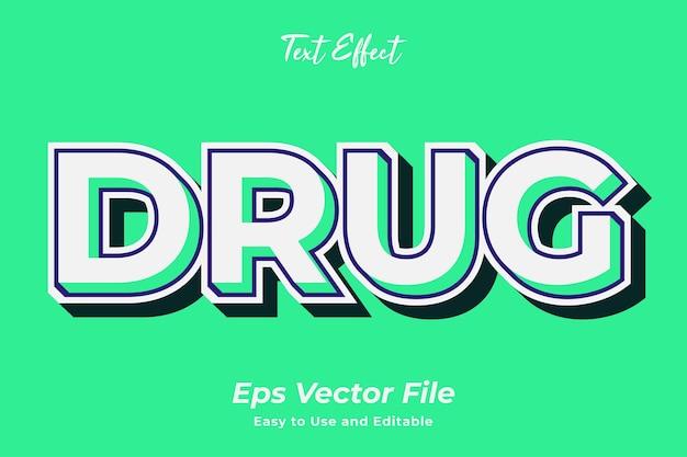 Teksteffect drug bewerkbaar en gebruiksvriendelijk premium vector