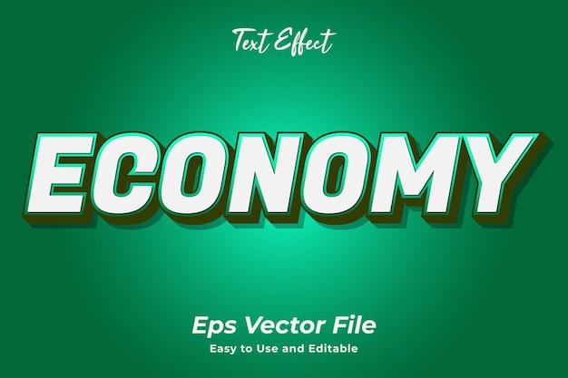 Teksteffect economie bewerkbaar en gebruiksvriendelijk premium vector