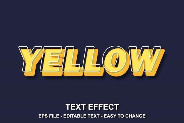 Teksteffect gele stijl