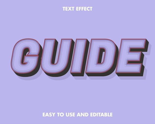 Teksteffect - gids. bewerkbare lettertypestijl.