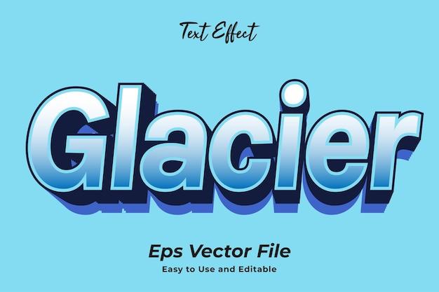 Teksteffect glacier gebruiksvriendelijk en bewerkbaar premium vector