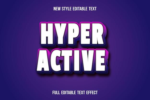 Teksteffect hyperactieve kleur wit en roze paars verloop
