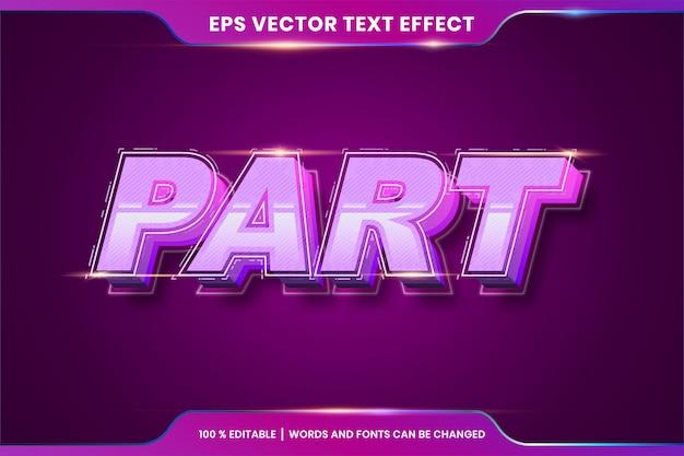Teksteffect in deelwoorden, tekststijlen thema bewerkbaar kleurverloop rood kleurconcept