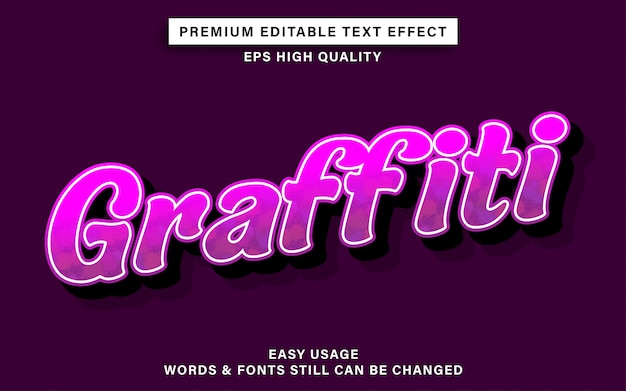 Teksteffect in graffiti-stijl