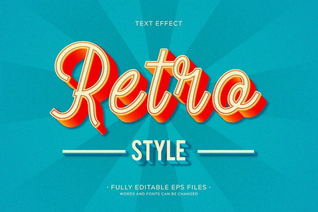 Teksteffect in retro-stijl