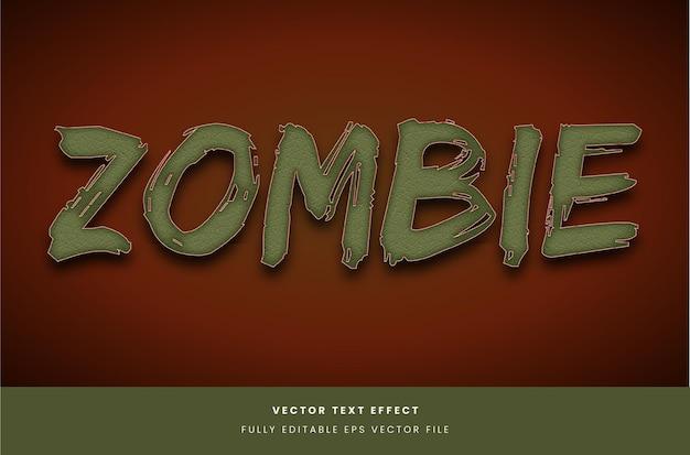 Teksteffect in zombiestijl