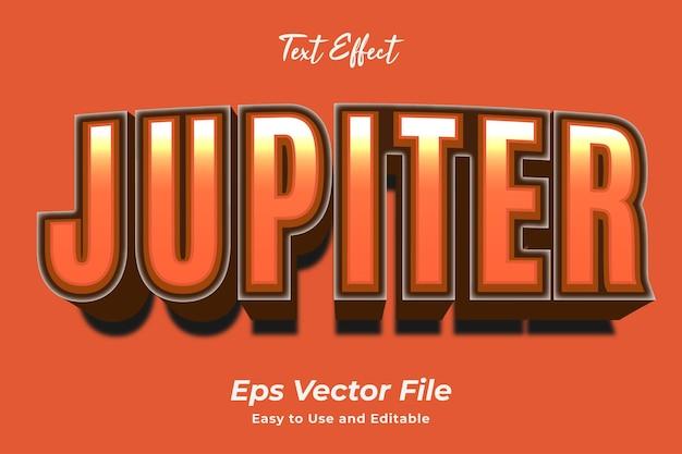 Teksteffect jupiter gebruiksvriendelijk en bewerkbaar premium vector