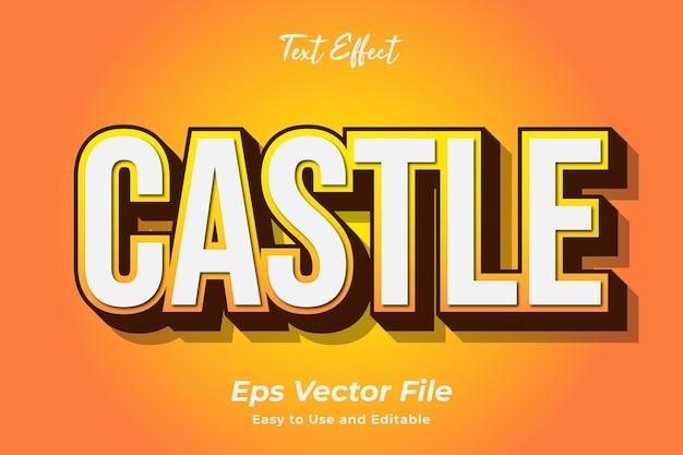 Teksteffect kasteel bewerkbare en gebruiksvriendelijke premium vector