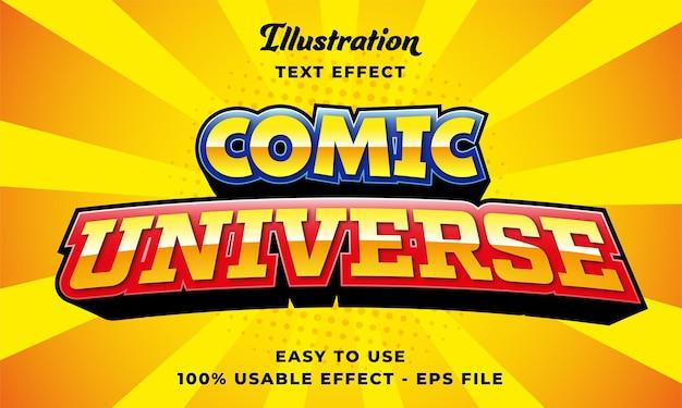 Teksteffect komisch universum