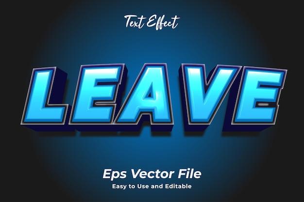 Teksteffect laat bewerkbaar en gebruiksvriendelijk premium vector