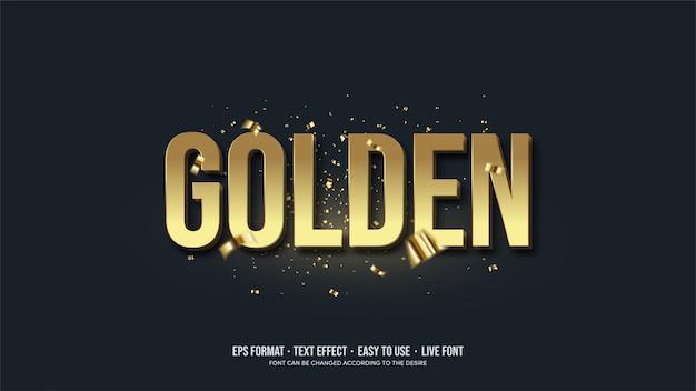 Teksteffect met gouden illustraties.