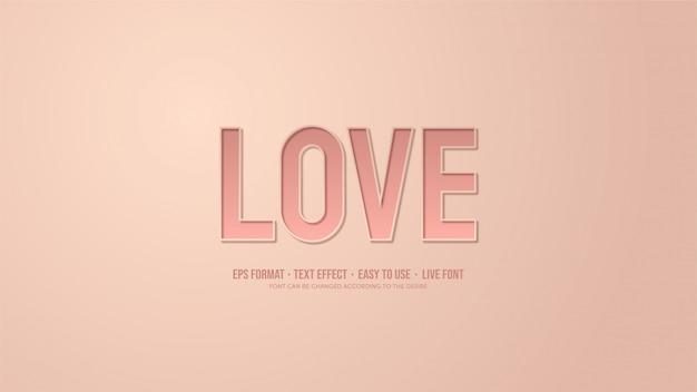 Teksteffect met roze illustraties met schaduweffecten.