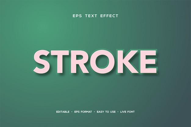 Teksteffect met wit schrijven op een groene achtergrond.