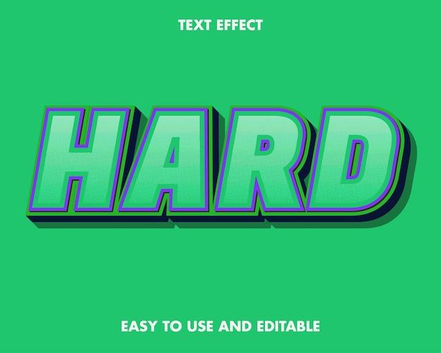 Teksteffect moeilijk. bewerkbare lettertypestijl.